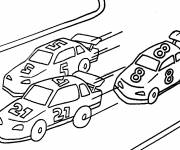 Free coloring and drawings A car race Coloring page