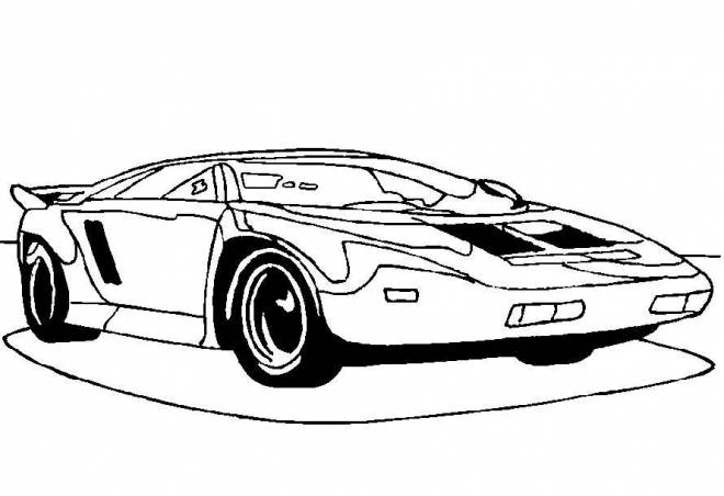 Free coloring and drawings A luxury car front view Coloring page