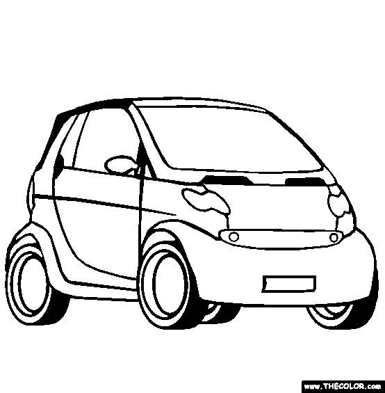 Free coloring and drawings A Mini Automobile Coloring page