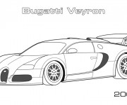 Free coloring and drawings Automobile Bugatti Veyron Coloring page
