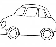 Free coloring and drawings Automobile simple Coloring page