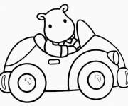 Free coloring and drawings Automobile toy for children Coloring page