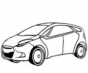 Free coloring and drawings Economic automobile Coloring page
