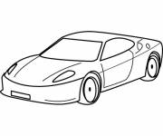 Free coloring and drawings Ferrari car Coloring page