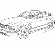 Free coloring and drawings Jaguar sports car Coloring page
