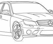 Free coloring and drawings Mercedes car Coloring page
