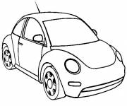 Free coloring and drawings Small Volkswagen Automobile Coloring page