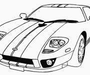 Free coloring and drawings Sports car online Coloring page