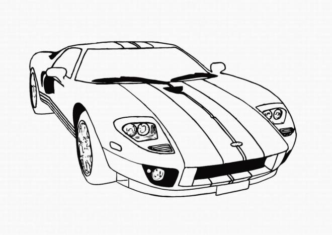 Free coloring and drawings A sports car Coloring page