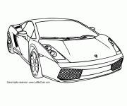 Free coloring and drawings Auto Lamborghini Online Coloring page