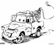 Free coloring and drawings Auto tow Mater Coloring page