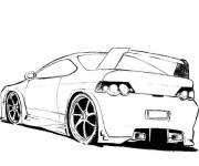 Free coloring and drawings Sports car ready for racing Coloring page