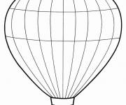 Coloring pages A vector hot air balloon for cutting