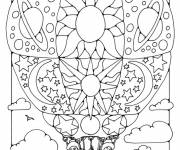 Coloring pages Artistic hot air balloon