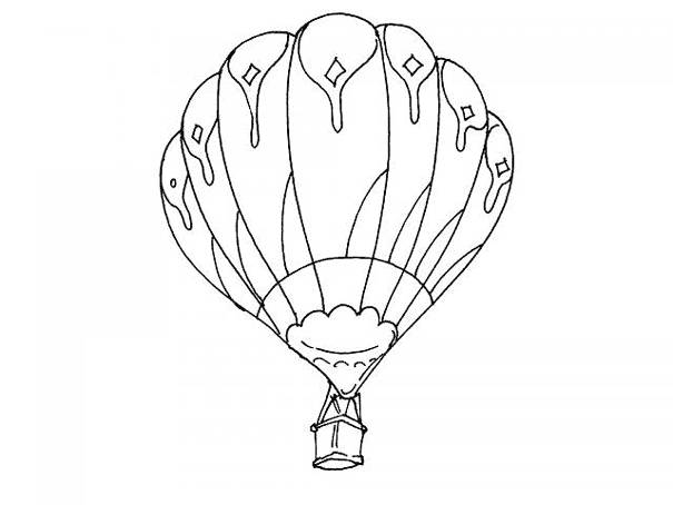 Free coloring and drawings Balloon flight Coloring page