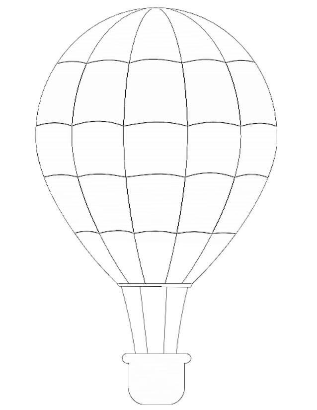Free coloring and drawings Color hot air balloon Coloring page
