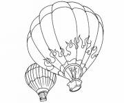 Coloring pages Decoration hot air balloon