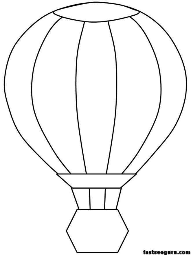 Free coloring and drawings Easy hot air balloon Coloring page