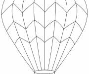 Coloring pages Graphic hot air balloon