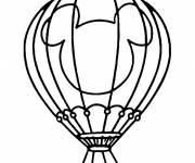 Coloring pages Hot air balloon decorated with Mickey Mouse