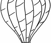 Coloring pages Hot air balloon in pencil in black