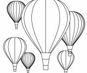 Free coloring and drawings Hot air balloons to decorate Coloring page