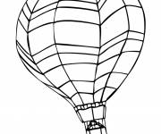 Coloring pages Image of hot air balloon on computer