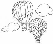 Coloring pages Outdoor balloon flight