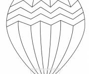 Free coloring and drawings Stylized hot air balloon Coloring page
