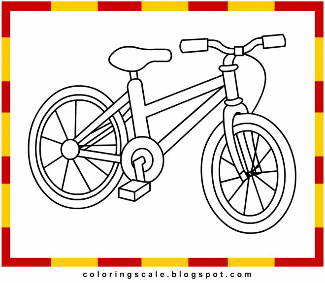 Free coloring and drawings a bicycle easy to color  Coloring page