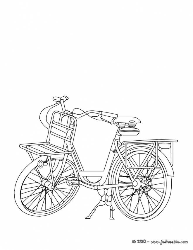 Free coloring and drawings A Little Bicycle for the Little Ones Coloring page