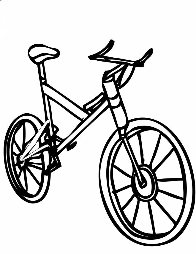 Free coloring and drawings A maternal bicycle Coloring page