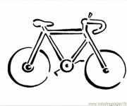 Coloring pages Bicycle Silhouette