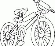 Coloring pages Colored bicycle