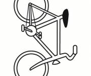 Coloring pages Easy to cut bicycle