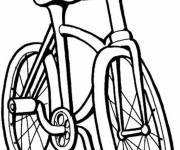 Coloring pages Single mountain bike