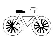 Coloring pages Stylized bicycle