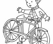 Coloring pages The Boy and his Bicycle