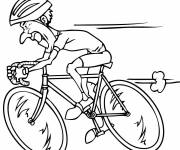 Coloring pages The Fast Cyclist