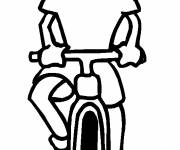 Free coloring and drawings The Girl Who Rides The Bicycle Coloring page