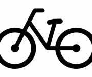 Coloring pages Vector bicycle