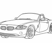 Coloring pages BMW convertible
