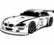 Coloring pages BMW i8 racing