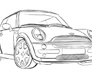 Coloring pages BMW Mini Cooper