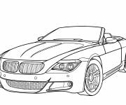 Coloring pages BMW sports convertible