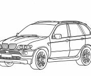 Coloring pages BMW X7 to cut