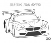 Coloring pages BMW Z4 Gt3