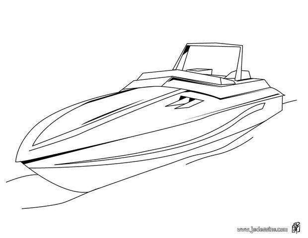 Free coloring and drawings A small yacht online Coloring page