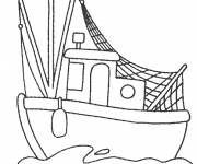 Coloring pages Maternal fishing boat