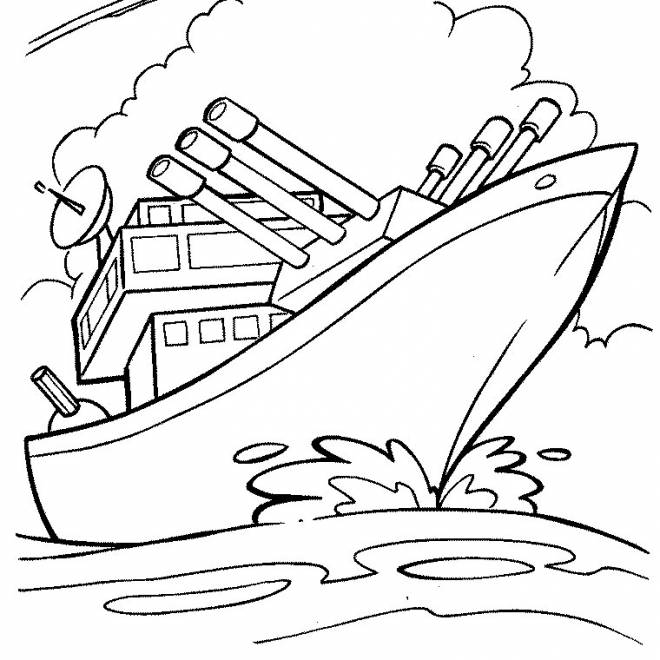 Free coloring and drawings military ship coloring Coloring page